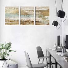 "Load image into Gallery viewer, Modern Abstract Canvas Wall Art Vintage Abstract Prints Canvas Pictures Artwork Contemporary Wall Art for Bedroom Living Room Bathroom Decoration Framed Ready to Hang 12"" x 16"" x 3 Pieces"