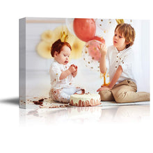 "Load image into Gallery viewer, SIGNFORD Custom Canvas Prints, Kids Personalized Poster Wall Art with Your Photos Wood Frame Digitally Printed - 8""x10"""