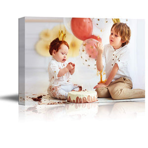 "SIGNFORD Custom Canvas Prints, Kids Personalized Poster Wall Art with Your Photos Wood Frame Digitally Printed - 8""x10"""