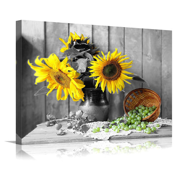 YOUKUART Canvas Wall Art for Living Room Bathroom Wall Decor for Bedroom Kitchen Artwork Canvas Prints Sunflower Flowers Painting 20