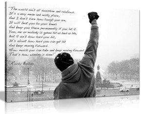 Panther Print Rocky Balboa Canvas Print Hope Qoute Large 30X20 Inches A1