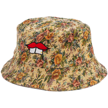 Load image into Gallery viewer, HAND-MADE FLORAL BUCKET HAT - RED