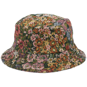 HAND-MADE FLORAL BUCKET HAT - YELLOW