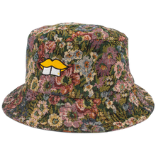 Load image into Gallery viewer, HAND-MADE FLORAL BUCKET HAT - YELLOW