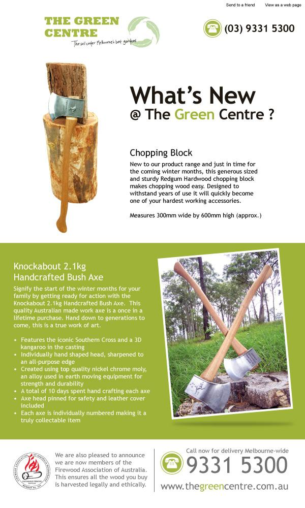 What's New @ The Green Centre ?