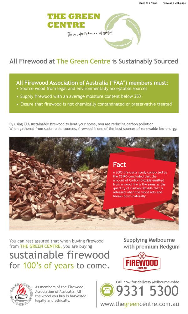 Sustainably Sourced Redgum Firewood