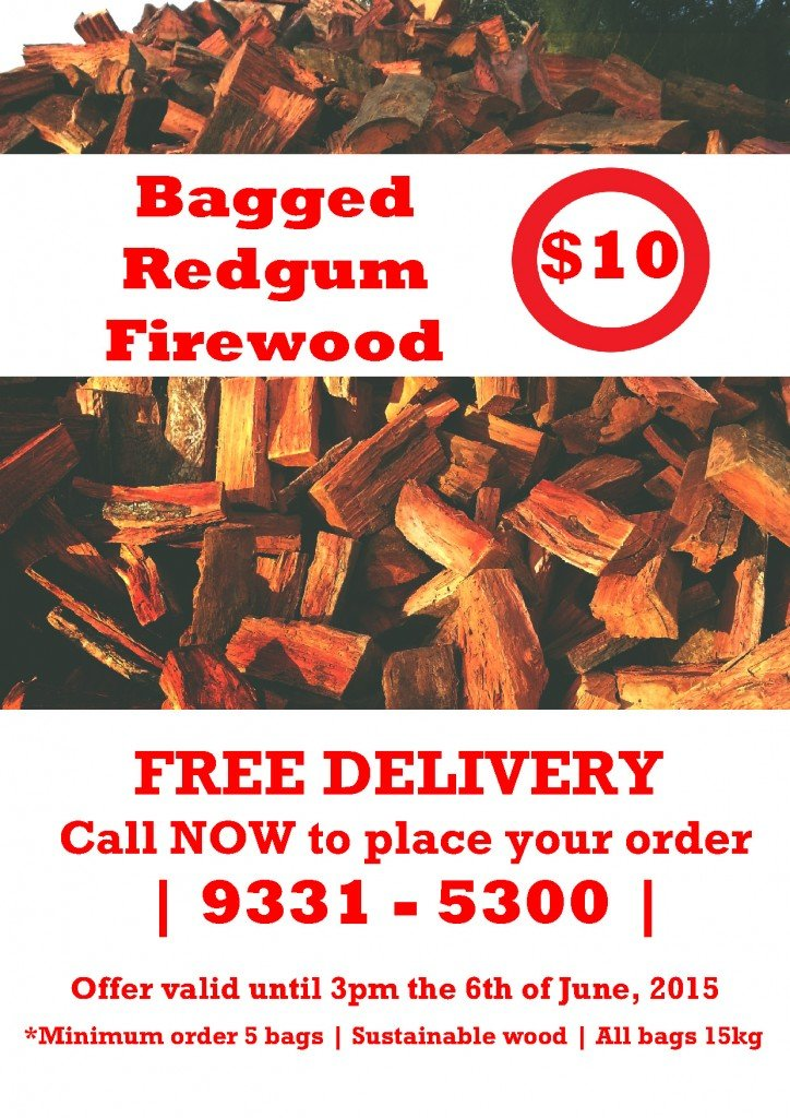$10 SPECIAL - 15KG BAGGED FIREWOOD **1 WEEK ONLY!!
