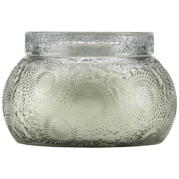 French Cade Lavender Embossed Chawan bowl with lid