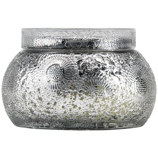Yashioka Gardenia Embossed Chawan bowl with lid