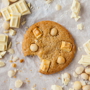 White Choc Macadamia Cookie