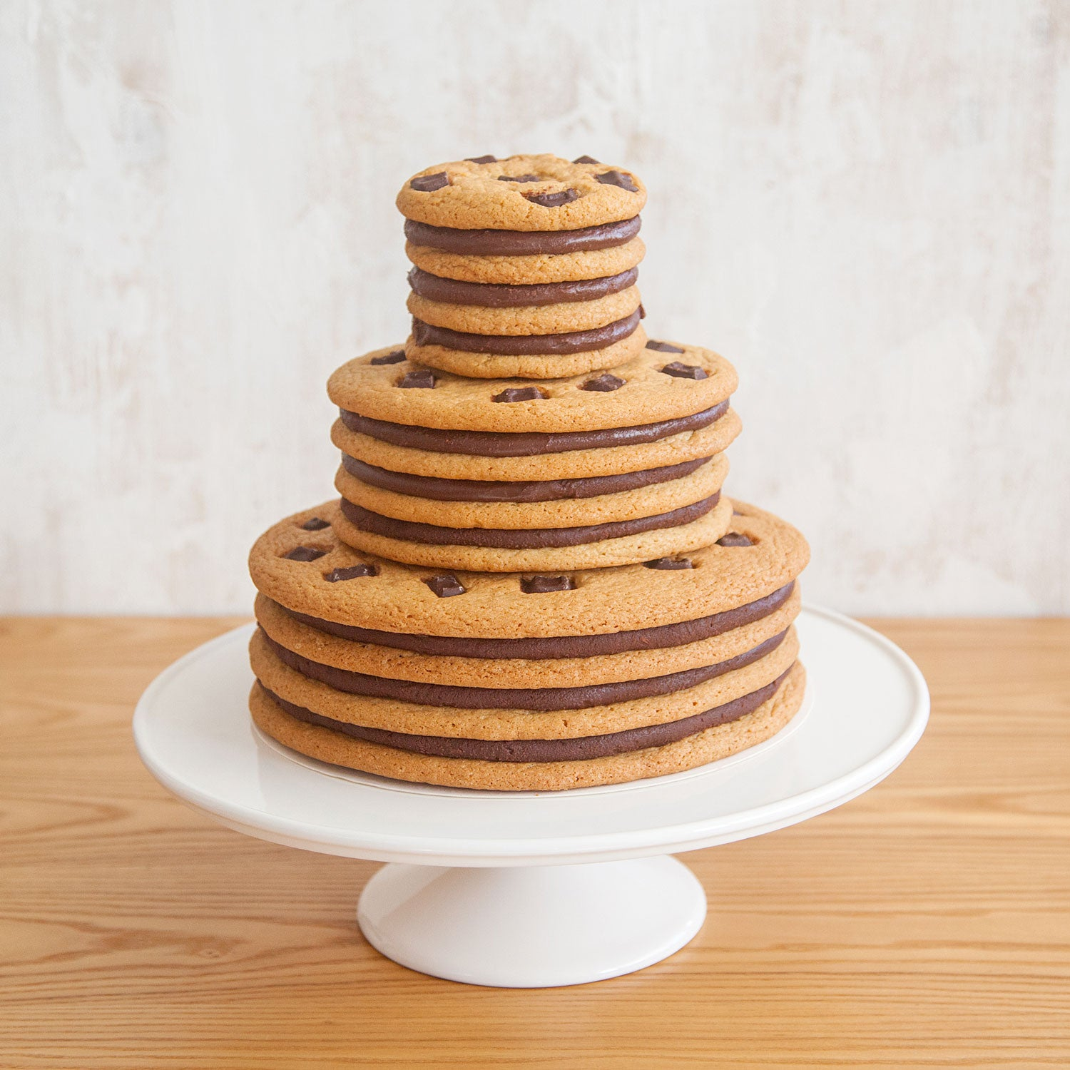 Moustache 3-Tiered Cookie Cake