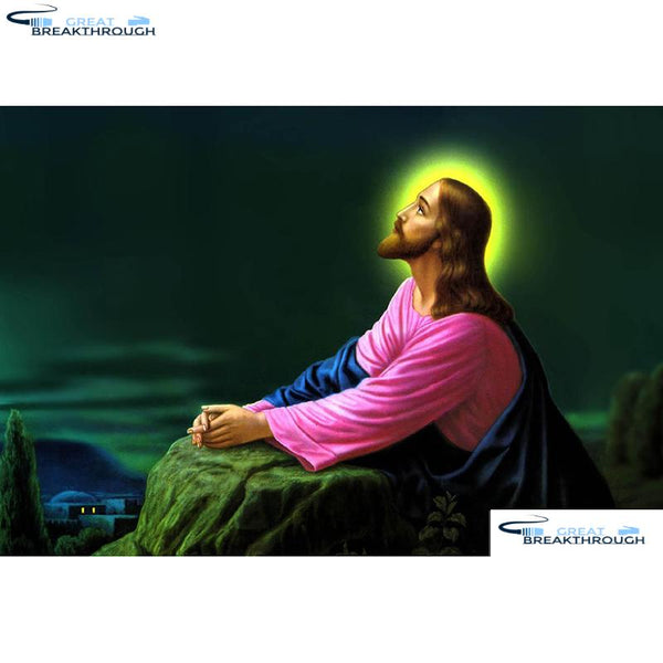 "HOMFUN Full Square/Round Drill 5D DIY Diamond Painting ""Religious Jesus"" Embroidery Cross Stitch 5D Home Decor Gift A15686"