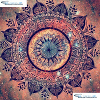 "HOMFUN Full Square/Round Drill 5D DIY Diamond Painting ""Mandala pattern"" 3D Diamond Embroidery Cross Stitch Home Decor A18634"