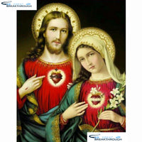 "HOMFUN Full Square/Round Drill 5D DIY Diamond Painting ""Religious figure"" Diamond Embroidery Cross Stitch Home Decor A27811"
