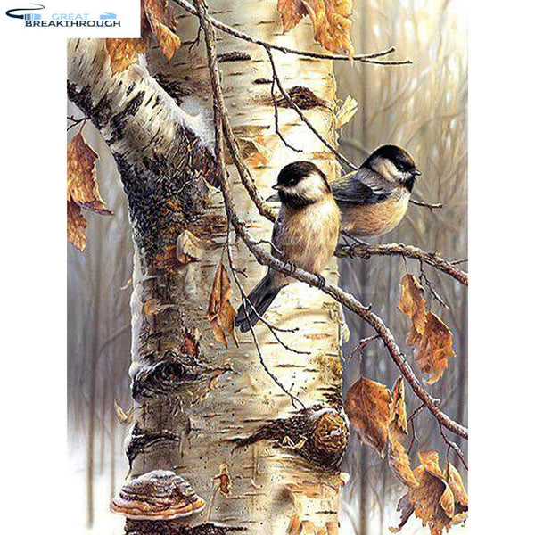 "HOMFUN Full Square/Round Drill 5D DIY Diamond Painting ""birds on the tree"" 3D Embroidery Cross Stitch 5D Decor Gift A00405"