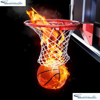 "HOMFUN Full Square/Round Drill 5D DIY Diamond Painting ""Basketball fire"" 3D Embroidery Cross Stitch 5D Home Decor A13982"