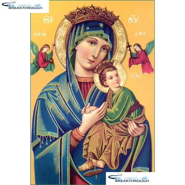"HOMFUN Full Square/Round Drill 5D DIY Diamond Painting ""Religious figure"" 3D Embroidery Cross Stitch 5D Home Decor gift A17263"