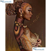 "HOMFUN Full Square/Round Drill 5D DIY Diamond Painting ""African beauty""3D Diamond Embroidery Cross Stitch Home Decor A20307"