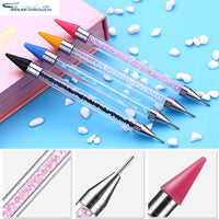 HOMFUN DIY Diamond Painting Pen Tool Accessories Rhinestones Pictures Double Head Diamond Embroidery Point Drill Pen Gift
