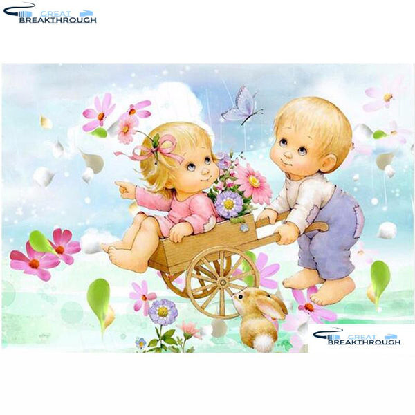 "HOMFUN Full Square/Round Drill 5D DIY Diamond Painting ""Cartoon baby"" Embroidery Cross Stitch 5D Home Decor Gift A07655"