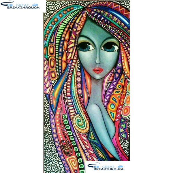 "HOMFUN Full Square/Round Drill 5D DIY Diamond Painting ""Cartoon woman"" 3D Embroidery Cross Stitch 5D Home Decor Gift A17105"