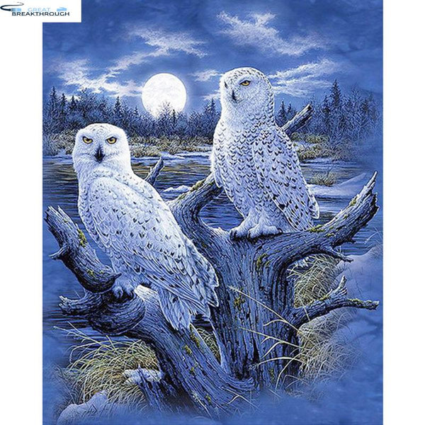 "Full Square/Round Drill 5D DIY Diamond Painting ""White owl"" 3D Embroidery Cross Stitch 5D Rhinestone Home Decor Gift"