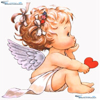 "HOMFUN Full Square/Round Drill 5D DIY Diamond Painting ""Cartoon angel baby"" 3D Embroidery Cross Stitch 5D Home Decor Gift A17284"