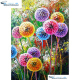 "HOMFUN Full Square/Round Drill 5D DIY Diamond Painting ""Colored dandelion"" Embroidery Cross Stitch 5D Home Decor Gift A13999"