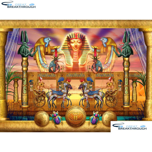 "HOMFUN Full Square/Round Drill 5D DIY Diamond Painting ""Egyptian Pharaoh"" 3D Diamond Embroidery Cross Stitch Home Decor A19448"