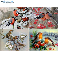 "HOMFUN Full Square/Round Drill 5D DIY Diamond Painting ""Animal bird"" 3D Embroidery Cross Stitch 5D Home Decor Gift"