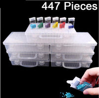 Diamond Painting Tools Accessories Daimond transparent plastic storage box Drill Storage Box - Great Breakthrough