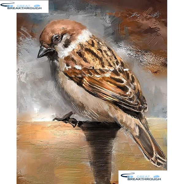 "HOMFUN Full Square/Round Drill 5D DIY Diamond Painting ""Sparrow bird"" Embroidery Cross Stitch 5D Home Decor Gift A07471"