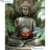 "HOMFUN Full Square/Round Drill 5D DIY Diamond Painting ""Religious Buddha"" Embroidery Cross Stitch 5D Home Decor Gift A13824"
