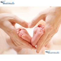 "HOMFUN Full Square/Round Drill 5D DIY Diamond Painting ""Baby feet"" Embroidery Cross Stitch 5D Home Decor Gift A08667"