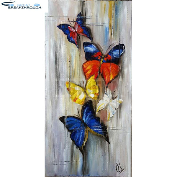 "HOMFUN 5D Diy Diamond Painting Cross Stitch ""Drawing butterfly"" Home Decor Full Rhinestones Inlay Diamond Embroidery A00344"