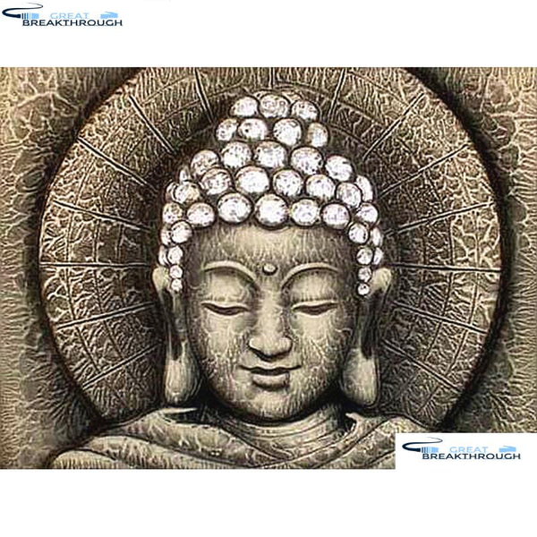 "HOMFUN Full Square/Round Drill 5D DIY Diamond Painting ""Religious Buddha"" 3D Diamond Embroidery Cross Stitch Home Decor A19070"