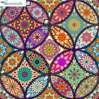 "HOMFUN Full Square/Round Drill 5D DIY Diamond Painting ""Religious Mandala"" 3D Diamond Embroidery Cross Stitch Home Decor A18735"