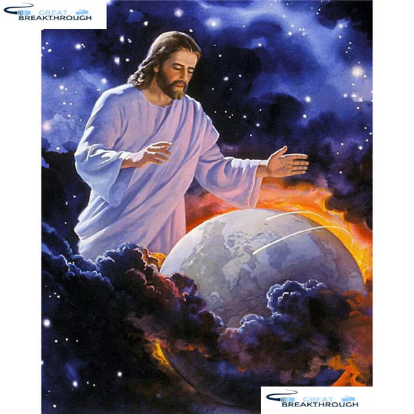 "HOMFUN Full Square/Round Drill 5D DIY Diamond Painting ""Religious Jesus"" 3D Embroidery Cross Stitch 5D Home Decor A13055"
