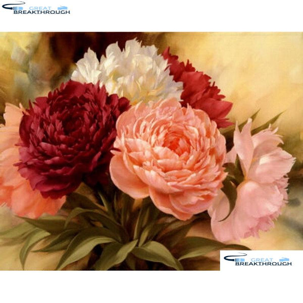 "HOMFUN Square/Round Drill 5D DIY Diamond Painting ""Flower landscape"" Embroidery Cross Stitch Full Rhinestone Decor A27149"