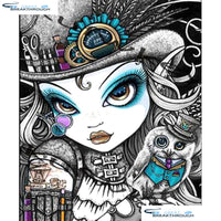 "HOMFUN Full Square/Round Drill 5D DIY Diamond Painting ""Cartoon beauty"" 3D Embroidery Cross Stitch 5D Home Decor A15191"