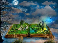 "5D Diy Diamond Painting Scenic Cross Stitch "" Cartoon Book Landscape "" Full Rhinestones Diamond Embroidery - Great Breakthrough"