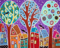 "5d Diamond Painting Scenic Full Square/Round "" Color Tree Landscape "" Picture Of Rhinestone DIY Diamond Embroidery - Great Breakthrough"