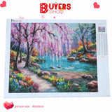 HUACAN Diamond Painting Landscape Diy Full Diamond Embroidery Scenery Mosaic Picture of Rhinestone Home Decor