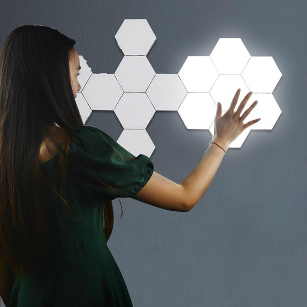 LED Wall Lamps Touch Sensor Quantum Lamp Wall Light home decoration modern Creative Honeycomb Modular Assembly Helios Adsorption
