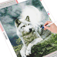 HUACAN 5D DIY Diamond Painting Wolf Diamond Mosaic Picture Of Rhinestones Diamond Embroidery Cross Stitch Animal Home Decor Gift