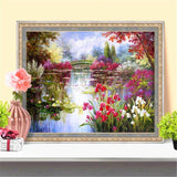 HUACAN Full Square Diamond Painting Landscape 5D DIY Diamond Mosaic Flowers Picture Of Rhinestone Embroidery Decor Home
