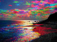 Diamond Painting Scenic Full Drill Square 5D DIY Diamond Embroidery Seaside Sunset Picture Of Rhinestone Sunrise - Great Breakthrough