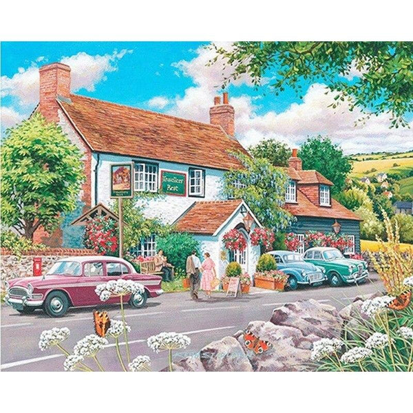 Full Diamond Square Diamond 5D DIY Diamond Painting House and car Diamond Embroidered Cross-stitch Rhinestone Mosaic