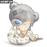 "Full Square/Round Drill 5D DIY Diamond Painting Cartoon "" Bear "" Embroidery Cross Stitch - Great Breakthrough"