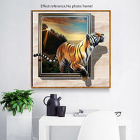 HUACAN Full Drill Square Diamond Painting 5d Tiger Decoration Home Diamond Embroidery Animals Diamond Mosaic